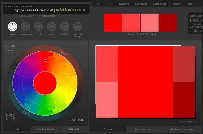 colorscheme designer