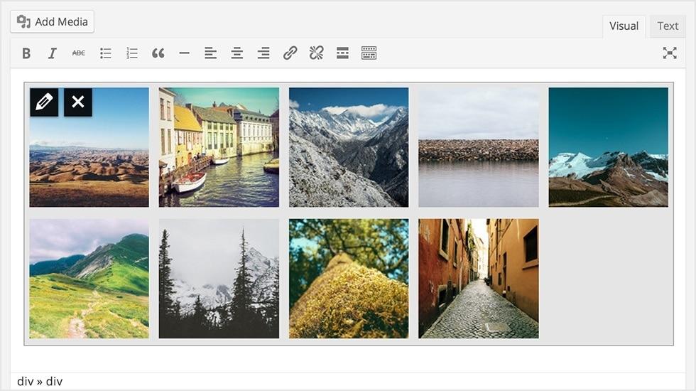 Galerie in wordpress 3.9
