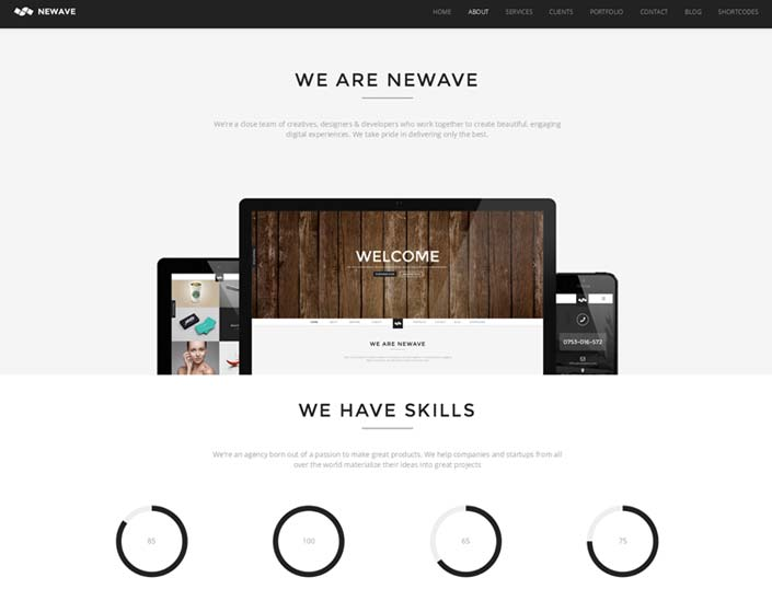 newave wordpress theme