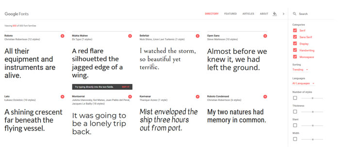 google fonts in wordpress einbinden step 1