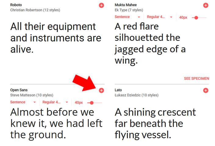 Google Fonts in WordPress einbinden step 2