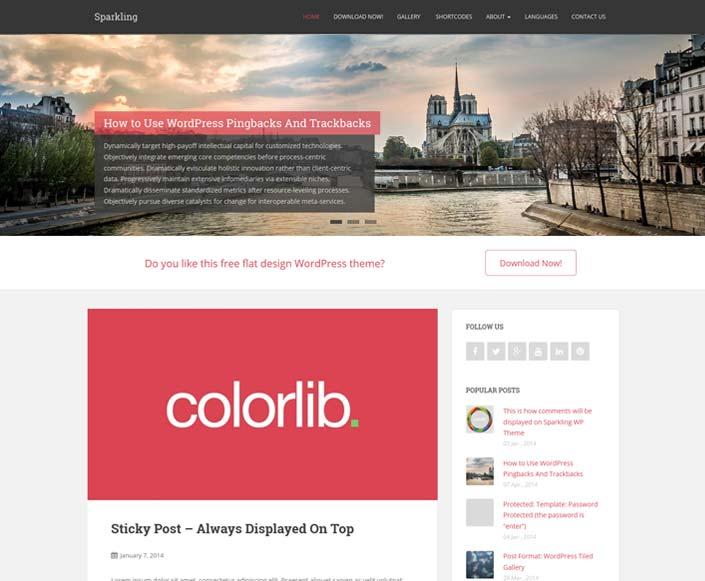 Sparkling - kostenlose WordPress themes