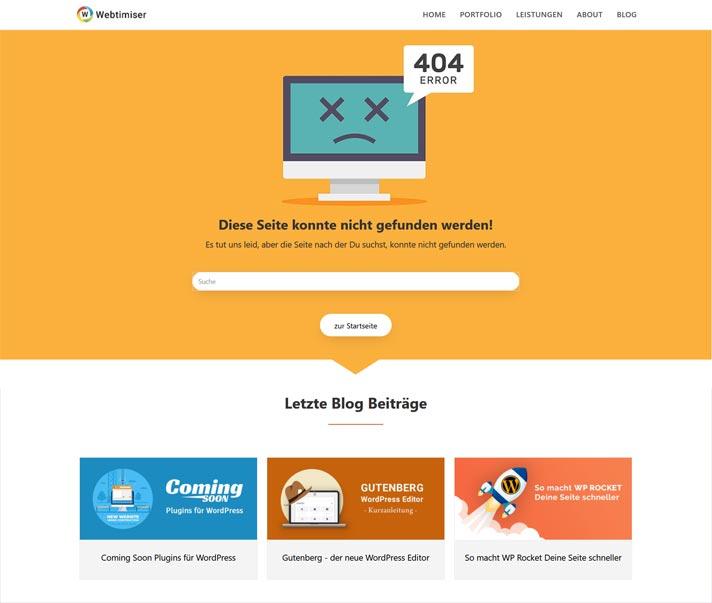 404 fehlerseite webtimiser