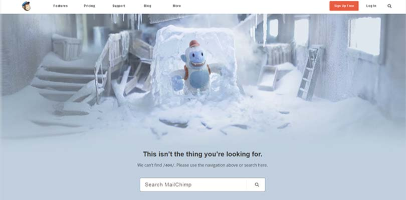 404 fehlerseite optimieren mailchimp