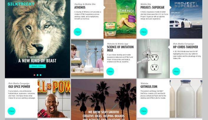 Kachel layout  Webdesign Trends 2015 | WordPress Agentur webtimiser