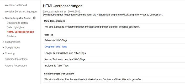 html verbesserungen