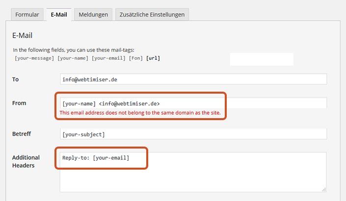 Contact Form 7 einrichten | WordPress Agentur webtimiser