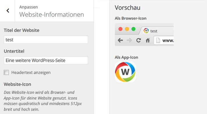 wordpress 4.3 favicon