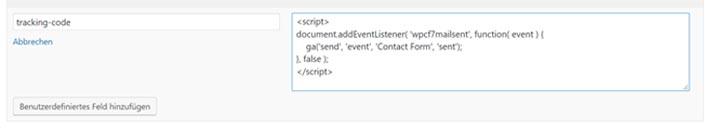 cf7 tracking code