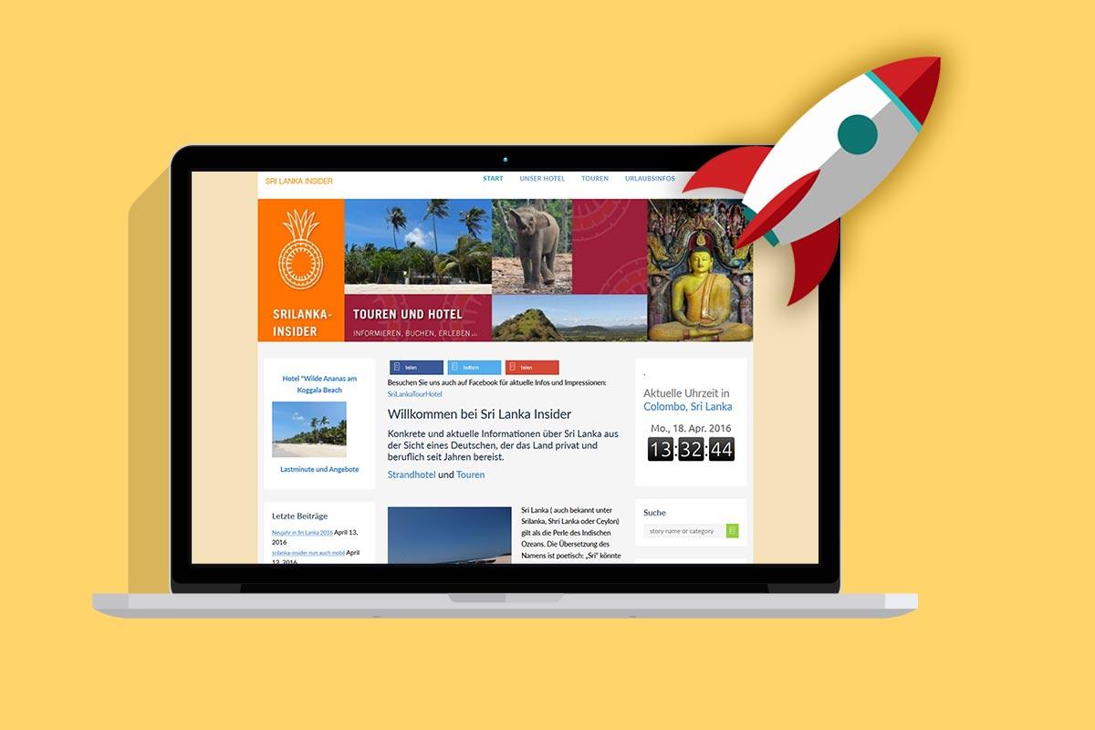 Pagespeed optimierung srilanka-insider