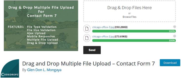 CF7 Drag & Drop