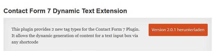 dynamic text extension cf7