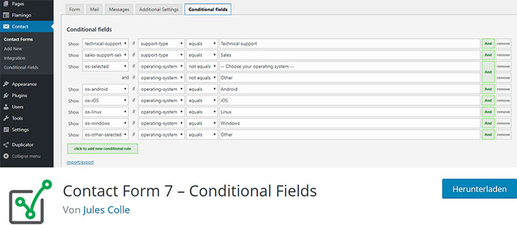conditional fields