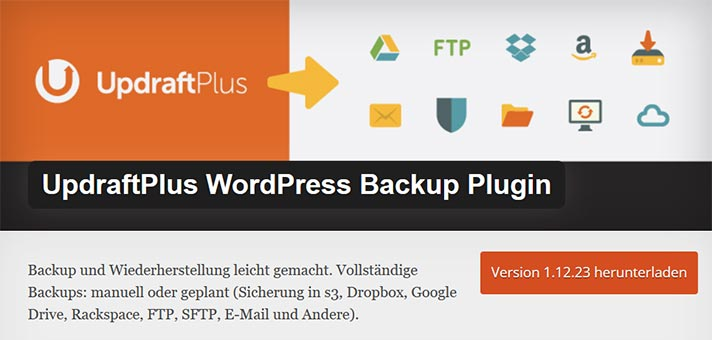 WordPress Backup Plugin UpdraftPlus