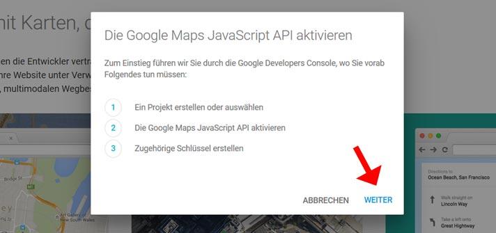 how to get map api key