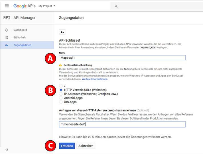 API Zugangsdaten