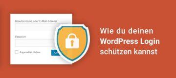 Wie du den WordPress Login schützen kannst