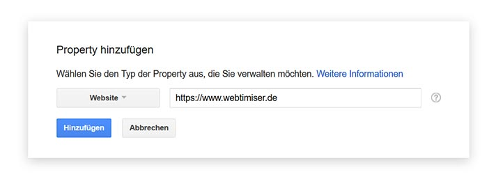 google search console Property auf SSL umstellen