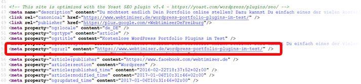 open graph info quellcode