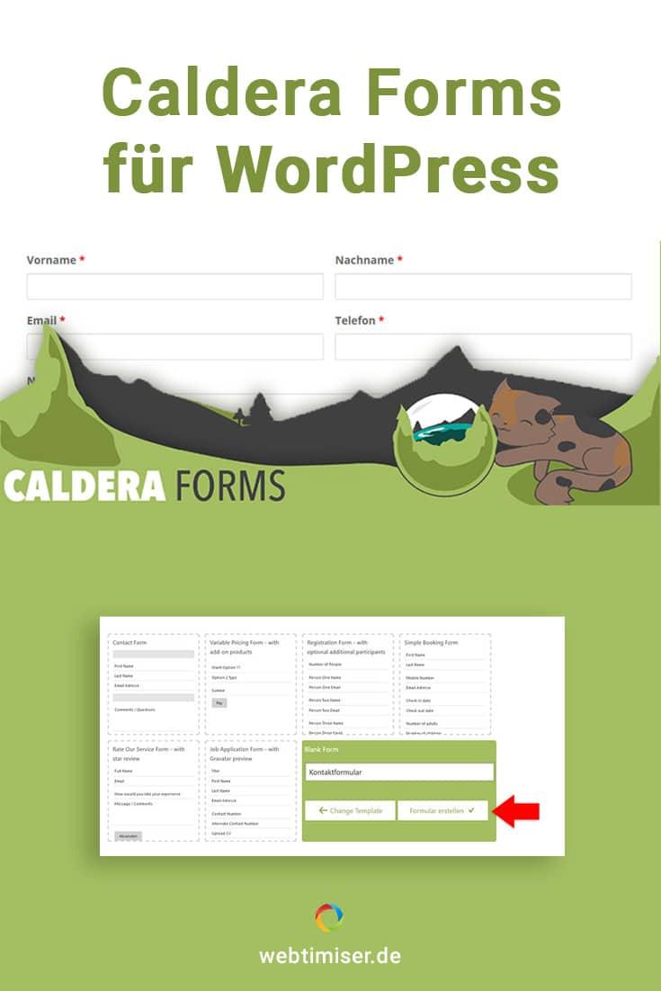 Du möchtest Caldera Forms für WordPress nutzen? Hier findest ein deutsches Tutorial, das dir Step by Step die Grundfunktionen erklärt.