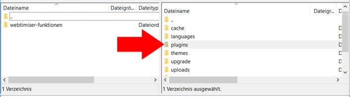 Upload der Datei via FTP