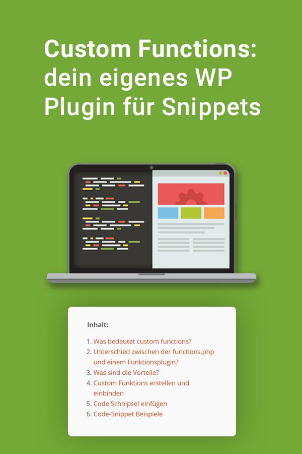 Custom Functions Dein Eigenes Wp Plugin Für Snippets Webtimiser