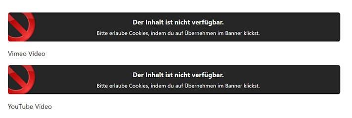 Blockierung von Videos