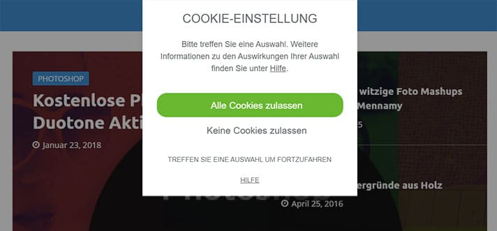 borlabs cookie auswahlbox