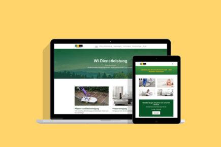 Webseite für Reinigungsservice