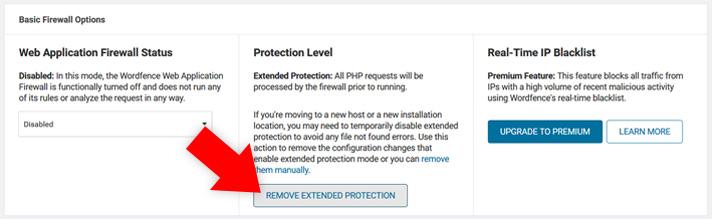 Erweiterten Schutz deaktivieren