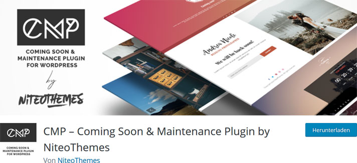 CMP – Coming Soon & Maintenance Plugin by NiteoThemes