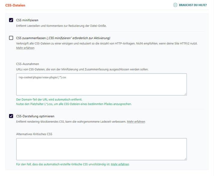 CSS optimieren