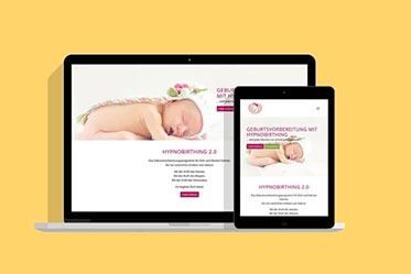 portfolio hypnobirthing webseite