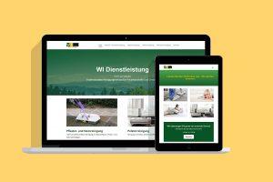 wi webseite für reinigungsservice