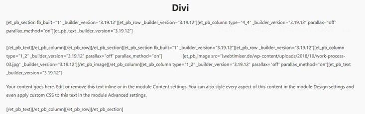 page builder lock in effekt