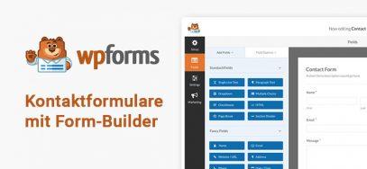 WPForms Anleitung: Kontaktformulare mit Formbuilder