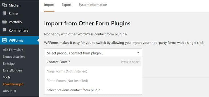 wpforms import
