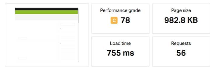 Speed Test Blog-Seite