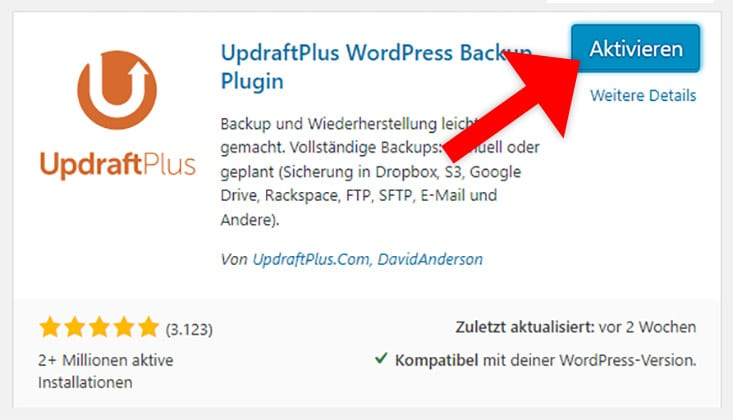 WordPress Plugin aktivieren