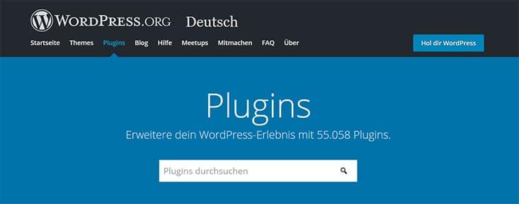 Plugin Verzeichnis wordpress.org