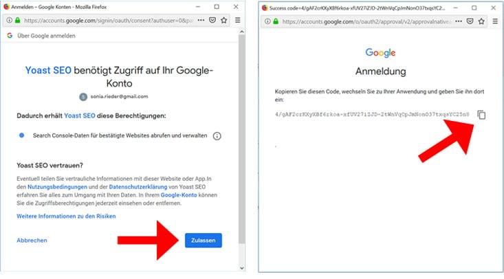 Google Search Console mit Yoast verbinden