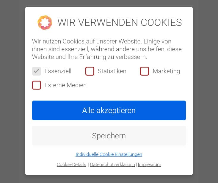EuGH konforme Cookie-Box