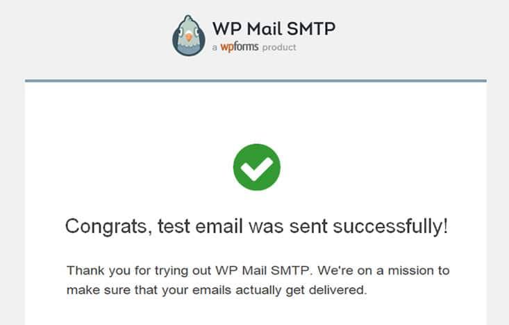 WordPress erfolgreicher Mail Versand über SMTP