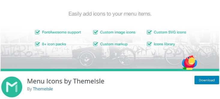 Menu Icons von Themeisle