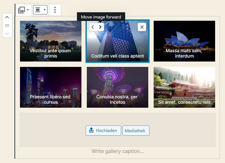 Galerie Block in WordPress 5.3