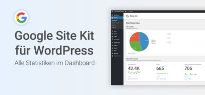 Google Site Kit für WordPress: Alle Statistiken im Dashboard