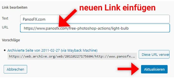 Defekte Links in WordPress bearbeiten