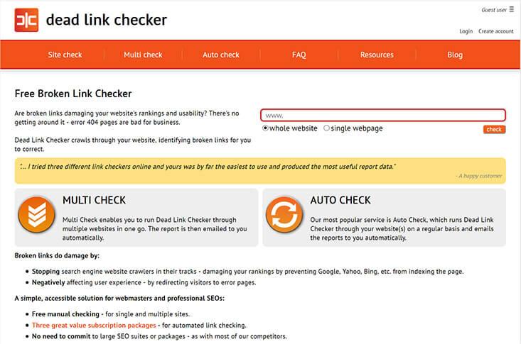 Dead Link Checker Screenshot