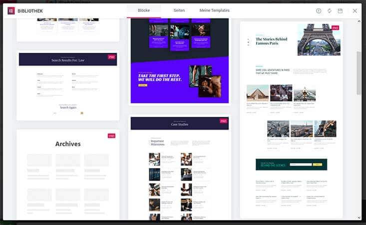 Templates für Archiv Seiten