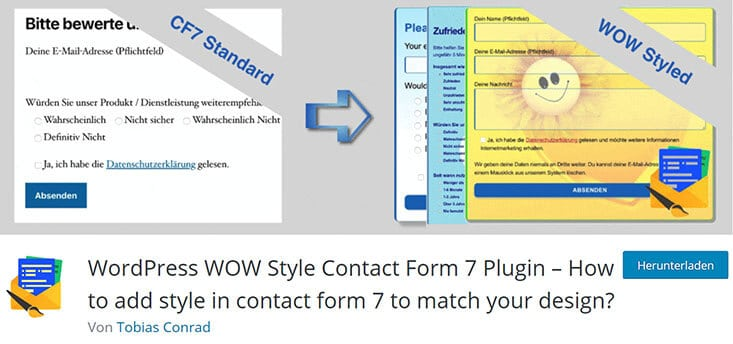 Contact Form 7 Erweiterungen - WOW Style